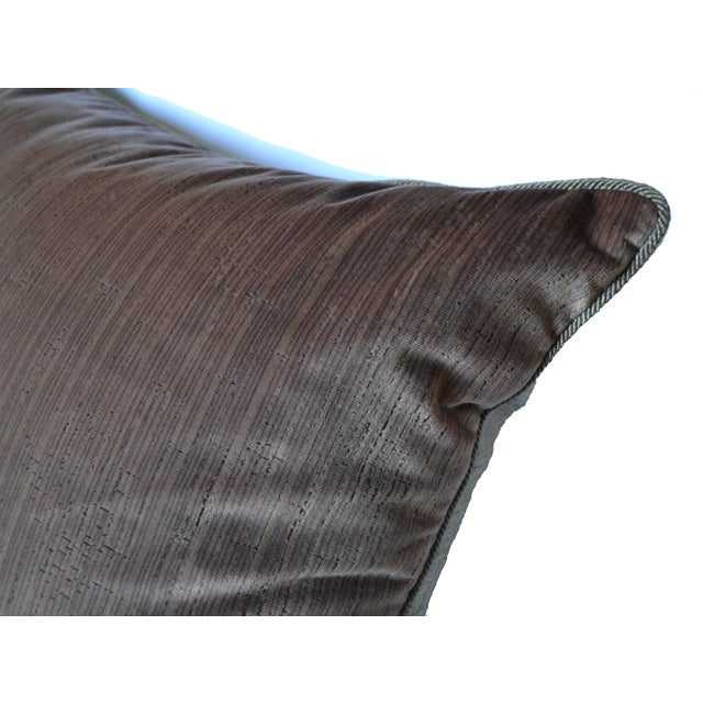Scalamandré 100% Silk Velvet Mauve Strie Pillow For Sale In Los Angeles - Image 6 of 10