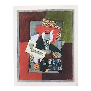 Late 20th Century Limited Edition Cubist Still Life Print For Sale