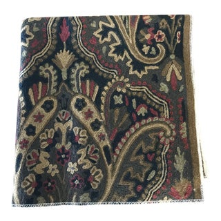 Crewel Embroidered Wool Fabric