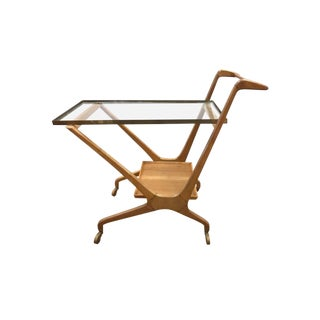 Cesare Lacca Cassina Mid-Century Rolling Bar Cart For Sale