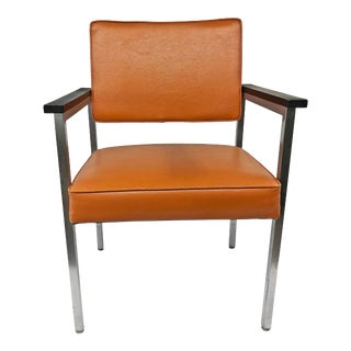 Mid Century Modern Orange Arm Chair by Goodform For Sale