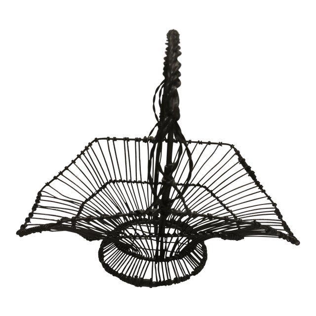 French Wire Basket For Sale