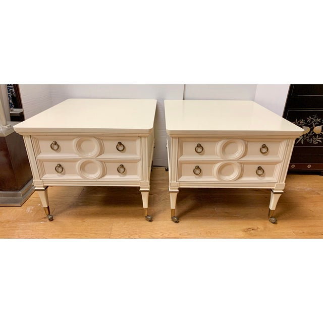 Mid Century Mastercraft Lacquered Nightstands Bedside Tables- a Pair For Sale - Image 10 of 10