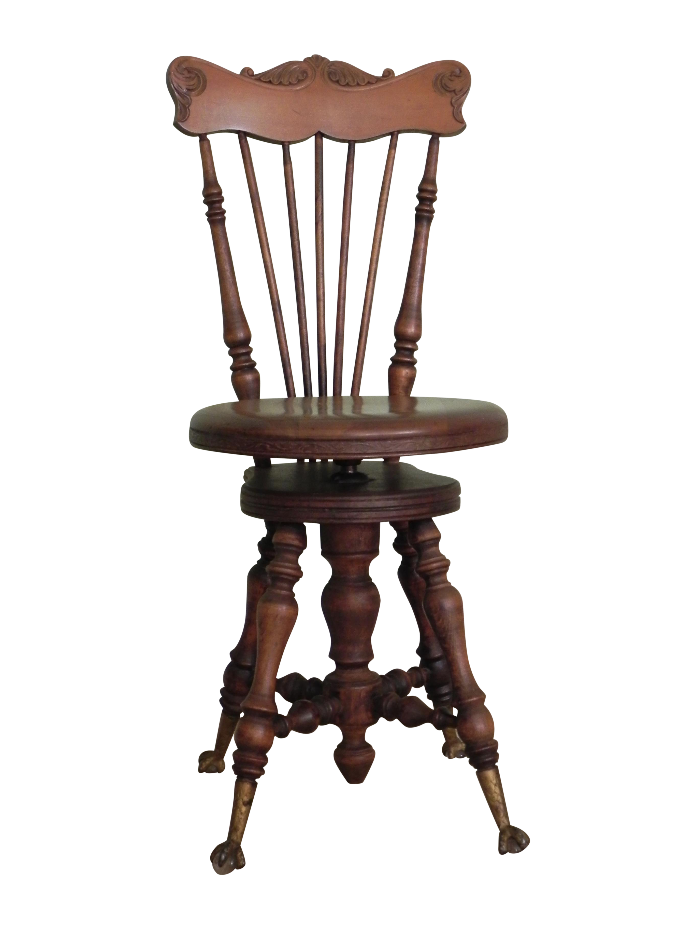 Exceptionnel Victorian High Back Piano Stool
