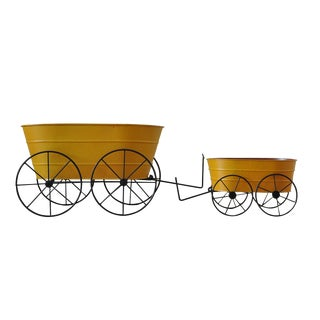 Vintage Yellow Planter Set - A Pair For Sale