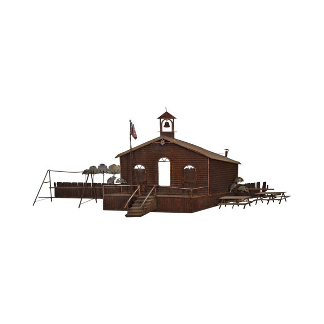 Curtis Jere Large Rusted Metal Wall Sculpture of Meeting House For Sale - Image 11 of 11