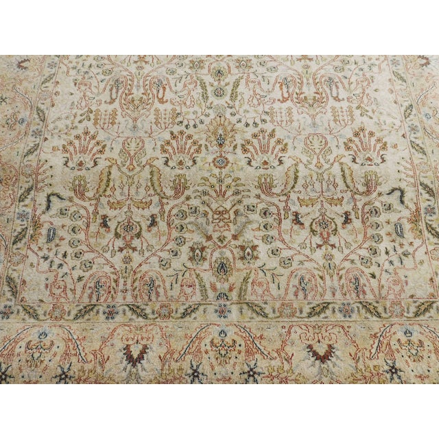 Indian Hand-Knotted Rug - 6' x 9' For Sale - Image 9 of 10