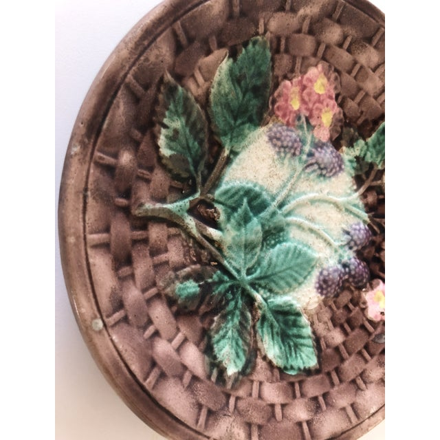 Majolica Basketweave Plate For Sale In New York - Image 6 of 10