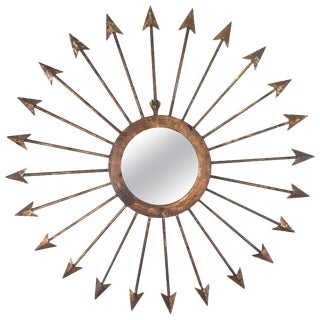Gilt Iron Arrow Mirror For Sale