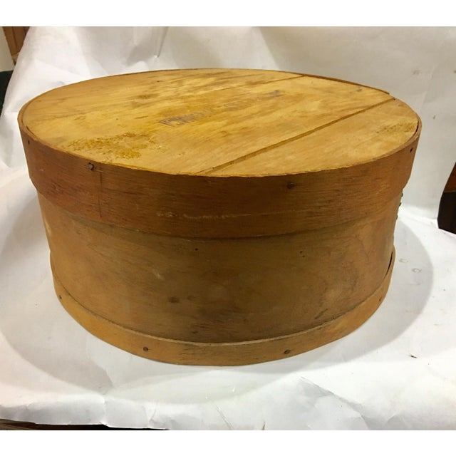 Vintage Round Wood Large Cheese Box For Sale - Image 10 of 11
