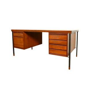 1960s Danish Modern Peter Hvidt & Orla Mølgaard for Søborg Møbelfabrik Teak Tanker Desk For Sale