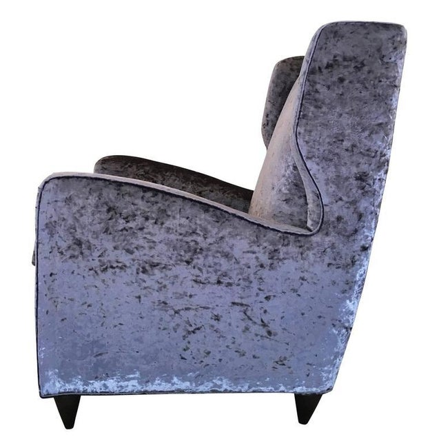 1950s Pair of Mid-Century Italian Club Chairs For Sale - Image 5 of 5