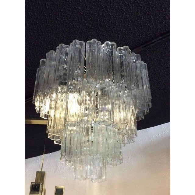 Vintage Murano Glass Chandelier Tronchi For Sale In West Palm - Image 6 of 8