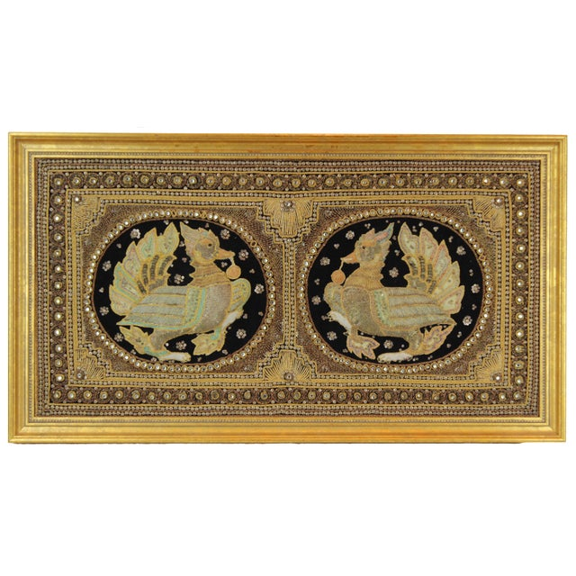 Pasargad DC Hand Made India Beaded Turkey Raised Wall Art For Sale - Image 10 of 10