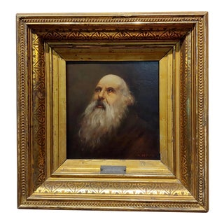 Abel De Pujol Old Patriarch Portrait Oil Painting, 19th Century For Sale
