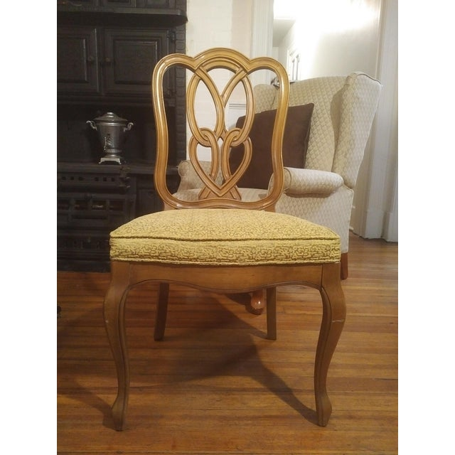Charming Mid-Century French country style side or complimentary dining chair made by Thomasville circa 1960s. Beautiful...