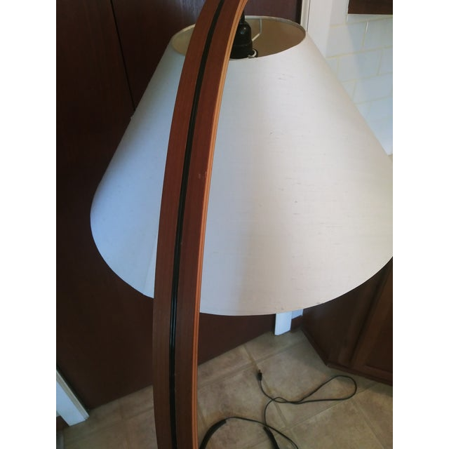 1970s VIntage 1970s Danish Modern Mads Caprani Bent Teak Floor Lamp For Sale - Image 5 of 13