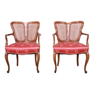 Vintage French Provincial Louis XV Style Armchairs - a Pair For Sale