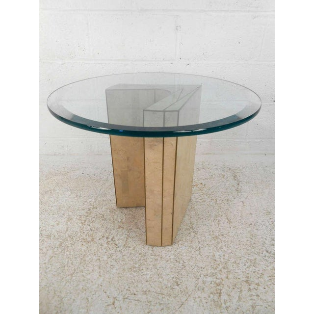 Vintage Marcius for Casa Bique Tessellated Stone End Table - Image 4 of 6