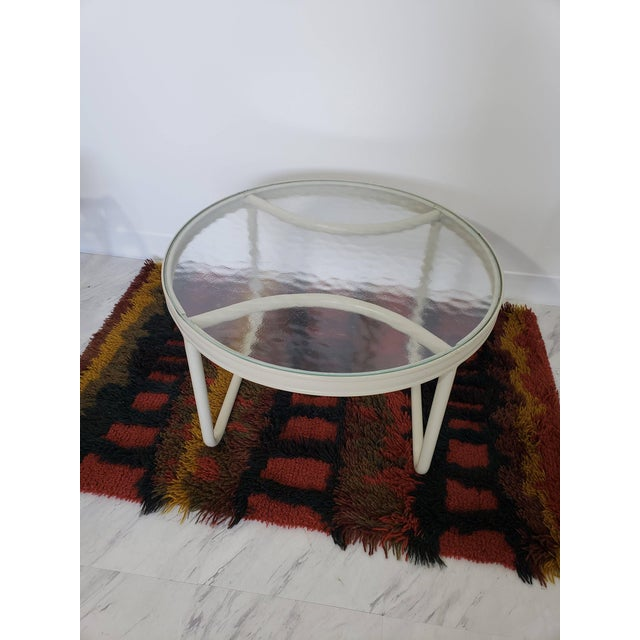 Mid-Century Modern Brown Jordan Patio Set Pair Bouncy Chair Ottoman Side Table For Sale In Detroit - Image 6 of 8