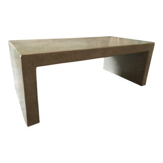 Industrial Restoration Hardware Solid Concrete Coffee Table For Sale