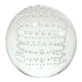 """Crystal 4"""" Bubble Sphere For Sale"""