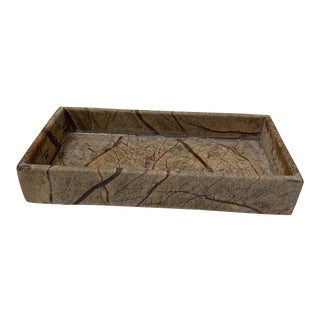 Natural Interiors Stone Rectangular Tray For Sale
