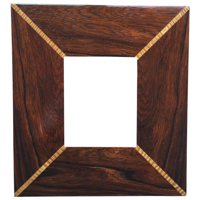 Custom Handmade Exotic Wood Inlaid Frame - Image 1 of 5