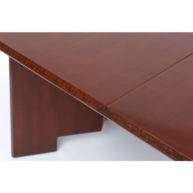 Frank Lloyd Wright Mahogany Extension Dining Table For Sale - Image 9 of 9