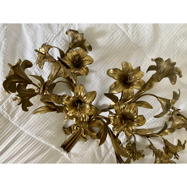 Stunning brass floral candelabra! Heavy, quality piece with excellent details. When I say heavy for their size, I mean...