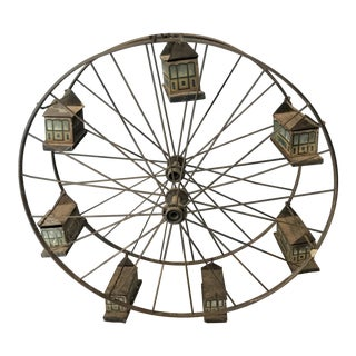 Late 1800s Folk Art Toy of Riesenrad Ferris Wheel For Sale