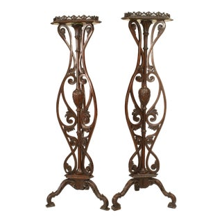 English Chippendale Mahogany Pedestals For Sale