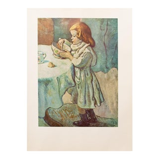 """1950s Picasso, """"The Gourmet"""" Original Period Lithograph For Sale"""