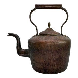 Vintage Late 20th Century Copper Kettle Tea Pot For Sale