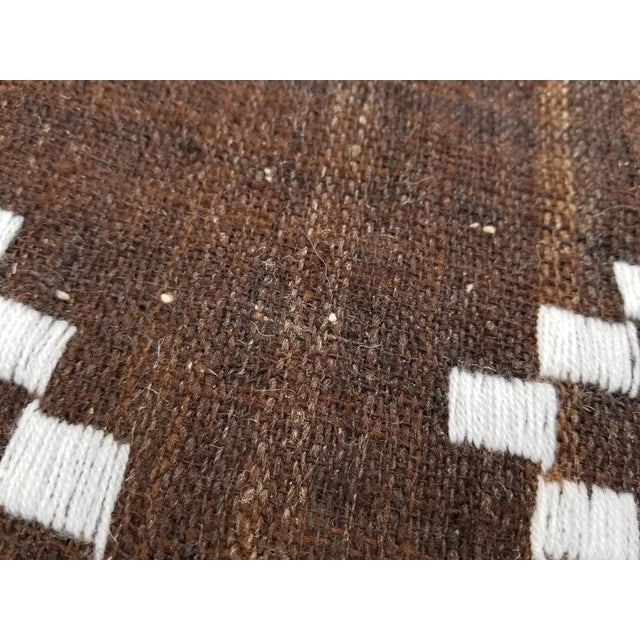 Hand Woven Wool Bed Cover For Sale In Los Angeles - Image 6 of 8