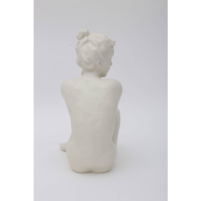 Mid 20th Century Figurine Sculpture of Nude Female by Frederich Gronau for Rosenthal For Sale - Image 5 of 7