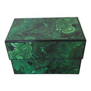 Faux Malachite Box