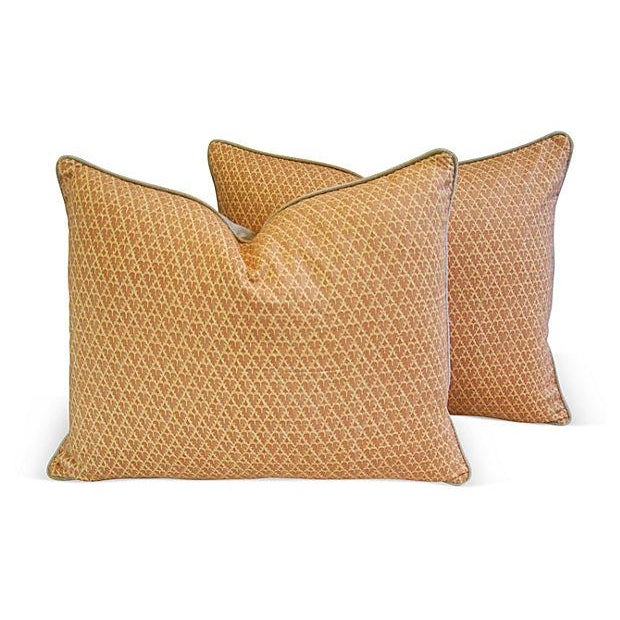 Designer Italian Fortuny Murillo Pillows - Pair - Image 1 of 7
