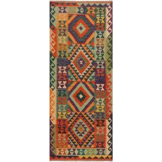 Contemporary Kilim Arya Andrew Rust/Purple Wool Rug (2'8 X 6'8)