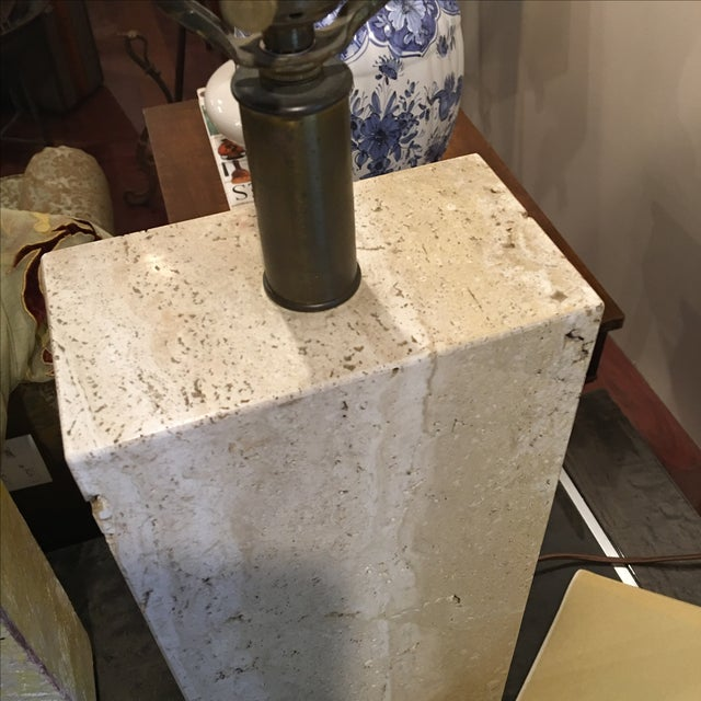 Modern Travertine Table Lamp - Image 6 of 8