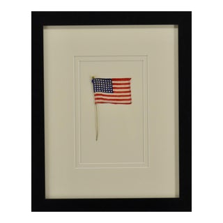 Vintage American Flag 48 Stars, Framed For Sale