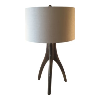 Modernist Brass Tripod Table Lamp For Sale