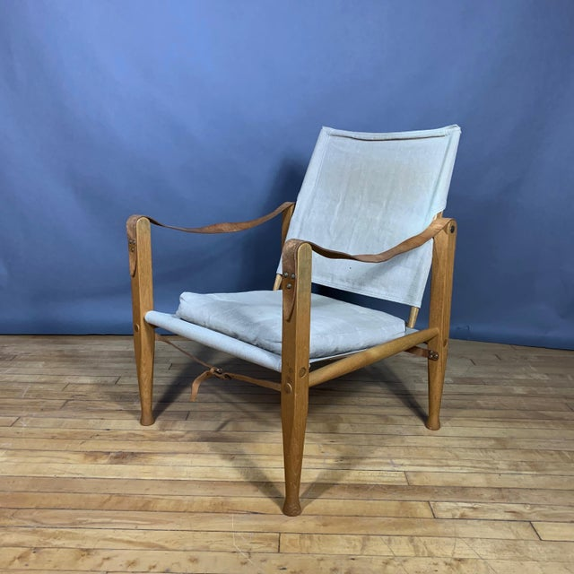 Kaare Klint Safari Chair, Rud Rasmussen, Denmark For Sale - Image 11 of 11