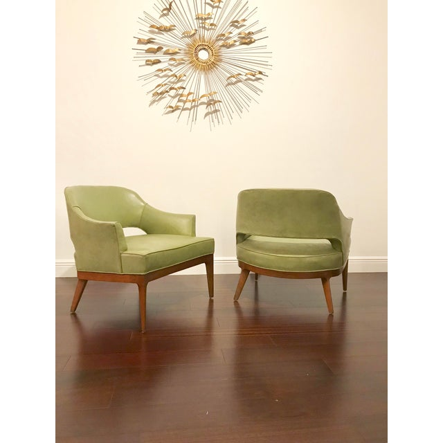 1950s Harvey Probber Mid Century Modern Low Club Chairs or Lounge Chairs - a Pair For Sale - Image 5 of 9