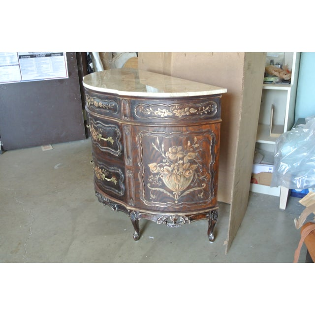 French Hand Decorated Commode For Sale - Image 4 of 7