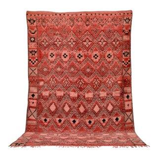 "Vintage Moroccan Boujad Handwoven Wool Floor Rug - 6'9"" x 10'5"""