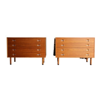 1960s Danish Modern Hans Wegner for Ry Mobler Chests of Drawers - a Pair For Sale