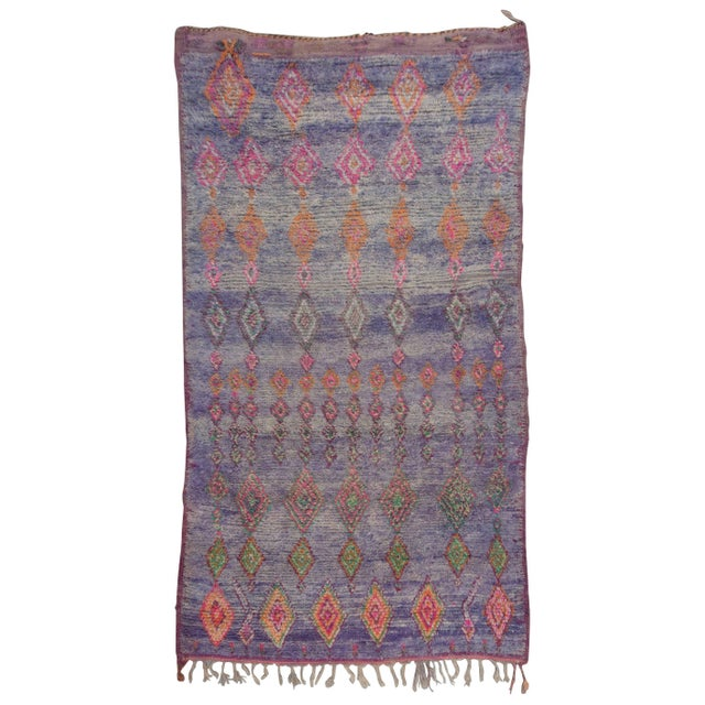 Vintage Moroccan Beni M'Guild Rug - 6′ × 10′9″ For Sale - Image 10 of 10