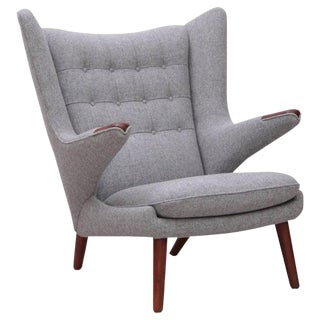 1 of 2 Hans Wegner Ap19 Papa Bear Chair for a.p. Stolen For Sale