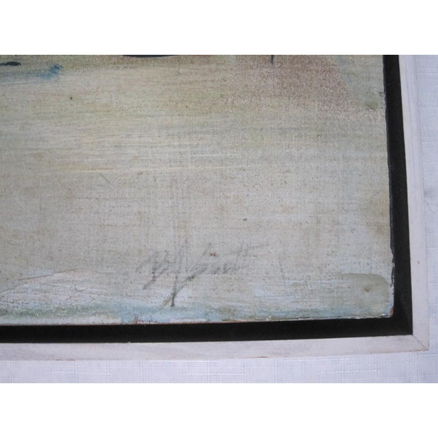 Mid-Century Abstract Nautical Painting - Image 5 of 6